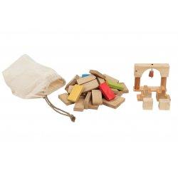 Circuito de fichas de madera
