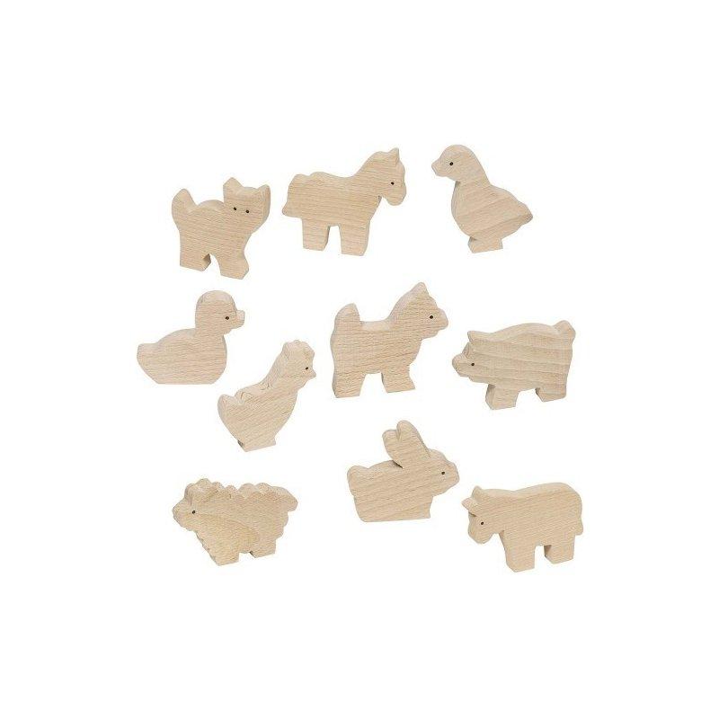 Figuras de madera animales de la granja para pintar - Madera para pintar ...