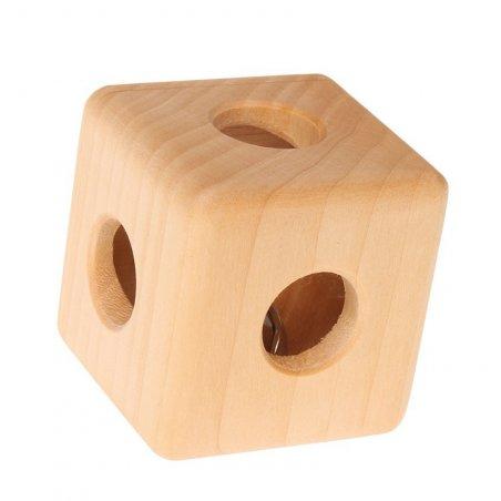 Sonajero de madera natural con cascabel