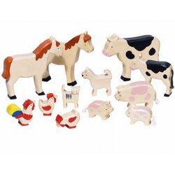 Figuras de madera Animales de la Granja