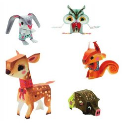 5 Paper Toys Animals de Djeco