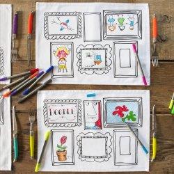 4 Manteles individuales para dibujar y pintar