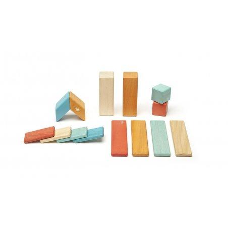 Bloques mágicos de madera 14 piezas color Sunset
