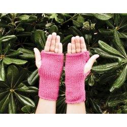 Kit infantil per a teixir uns guants - Fúcsia