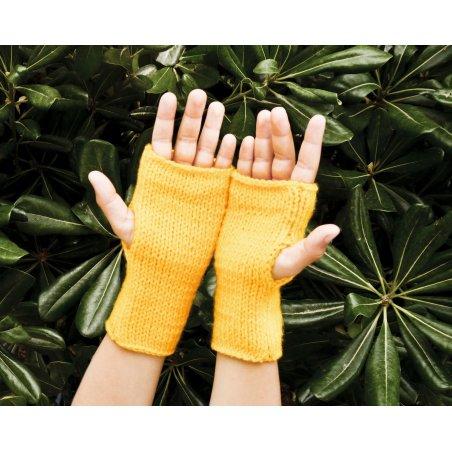 Kit infantil para tejer unos guantes – amarillo