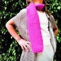 Kit infantil para tejer una bufanda – Fúcsia