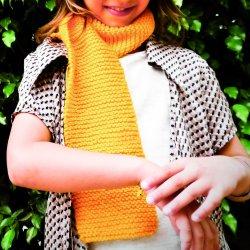 Kit infantil para tejer una bufanda – amarillo