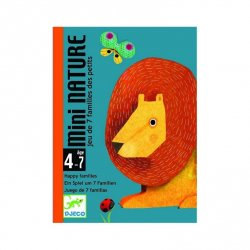 Juego familias animales cartas Mini Nature Djeco
