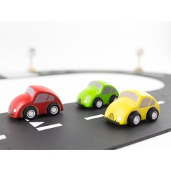 3 mini coches de madera plantoys 6024