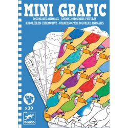 Mini Grafic animals cartes acolorir Djeco