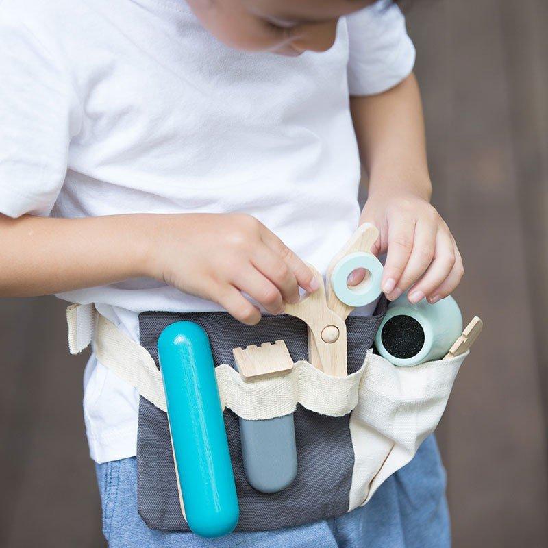 Set de herramientas de de madera de juguete para peluquería Plantoys