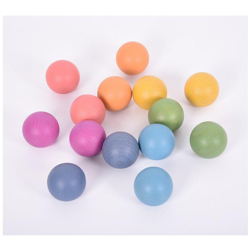 Esferas de madera Arco iris