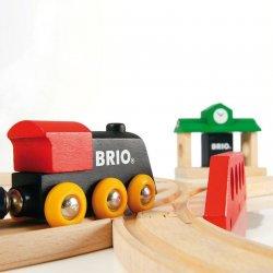 Circuito de madera tren Brio