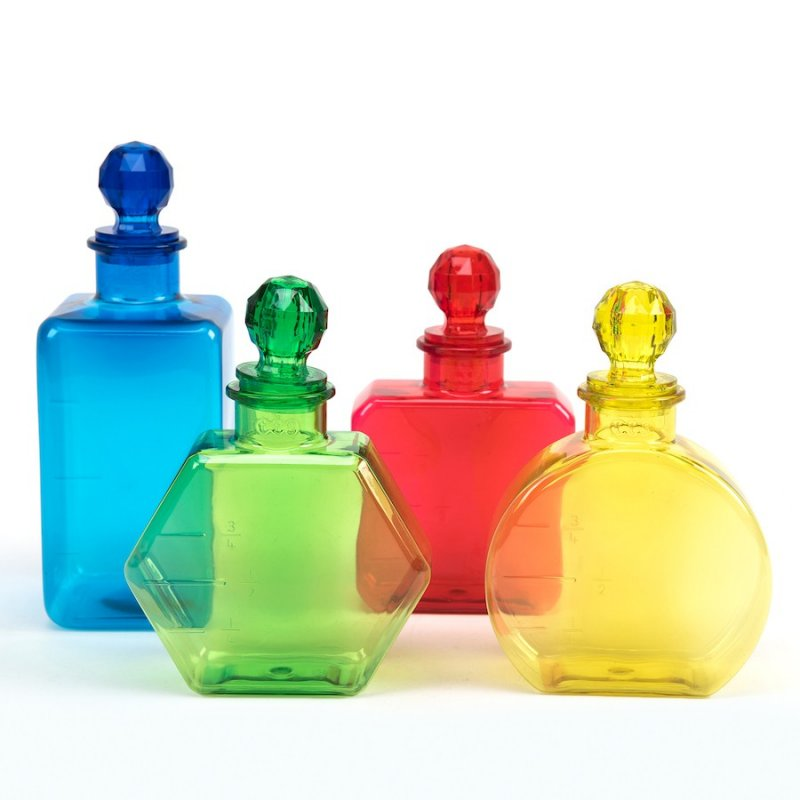 Botellas de colores TTS