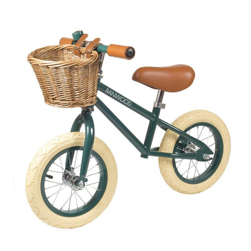 Bicileta con cesto First Go de Banwood verde