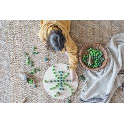 36 piezas sueltas verdes para mandalas