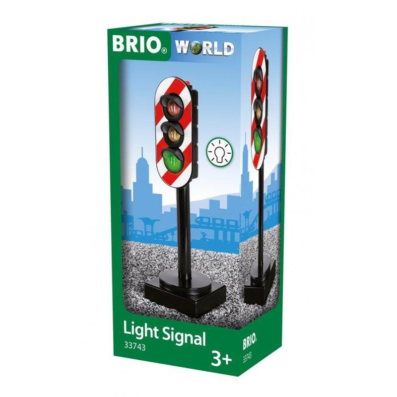 Semáforo con luz real de Brio