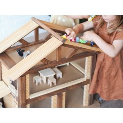 Casa de camp amb mobles de fusta