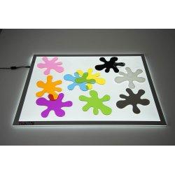 Taques per la taula de llum de tickit
