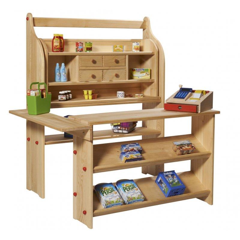 Mueble de madera para tienda infantil