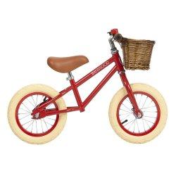 Bicileta con cesta First Go de Banwood roja
