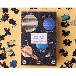 puzzle fluorescente de los planetas de londji