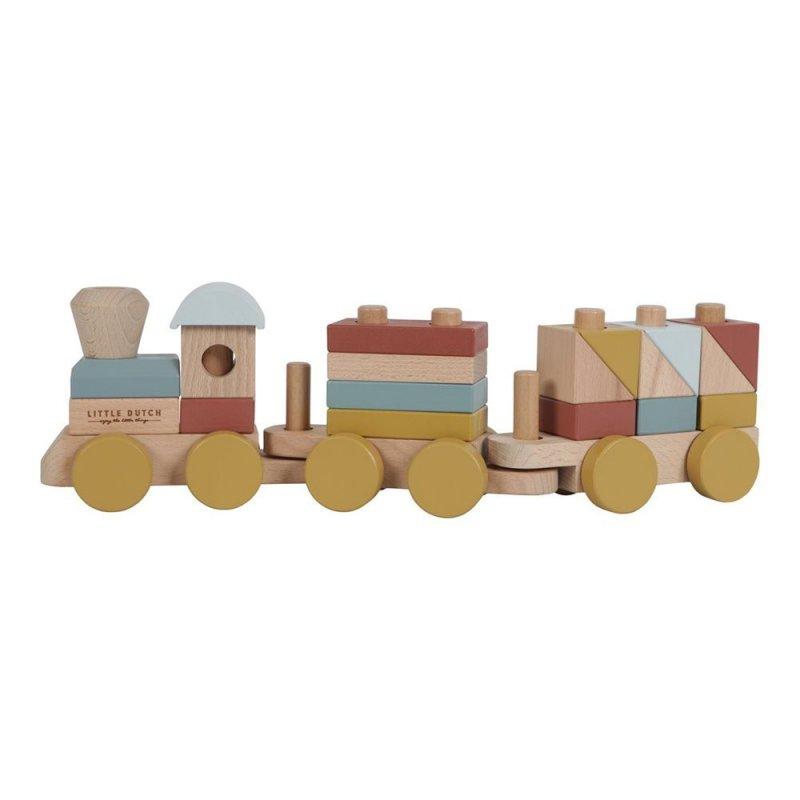 Tren de fusta de construccio de little dutch