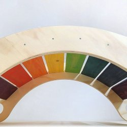 Balancín multicolor movimiento libre de madera