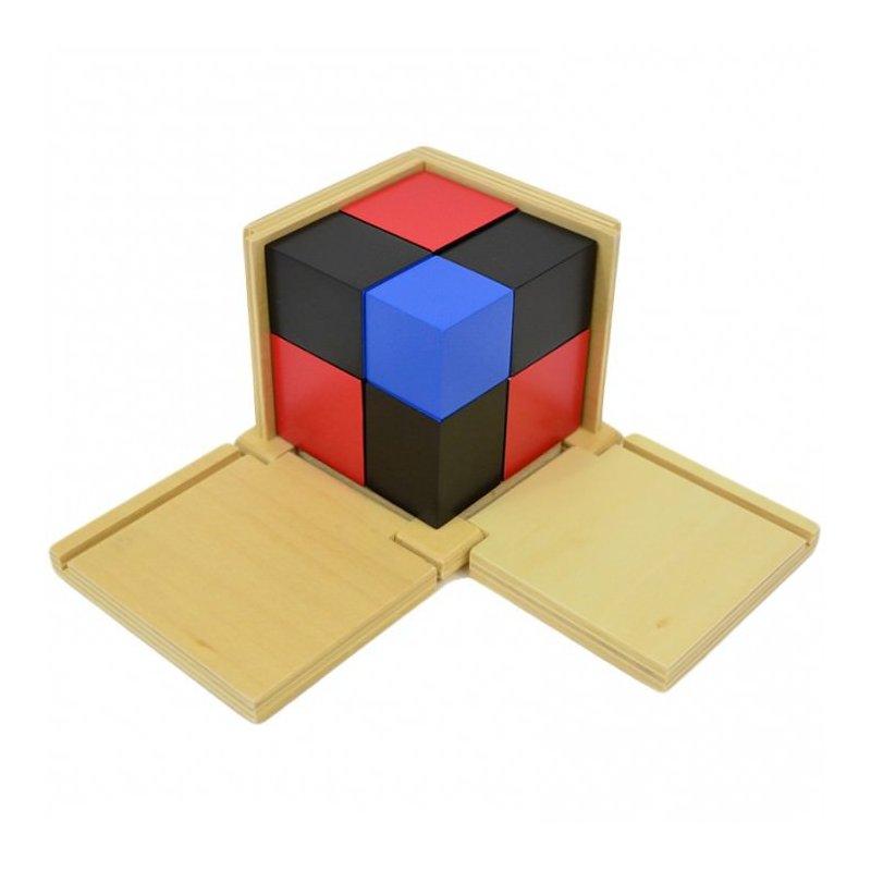 Cub de binomi material Montessori