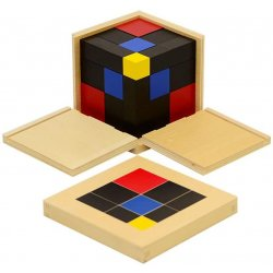 Cubo de Trinomio de madera pedagogía Montessori