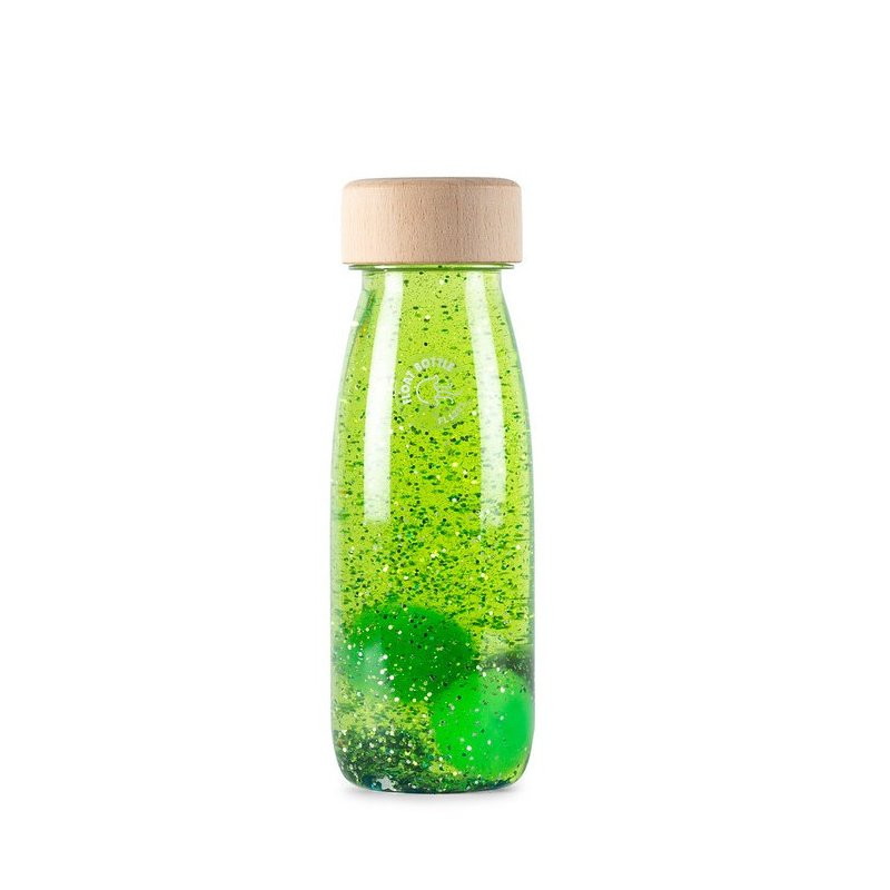 Float Bottle Green botella sensorial verde