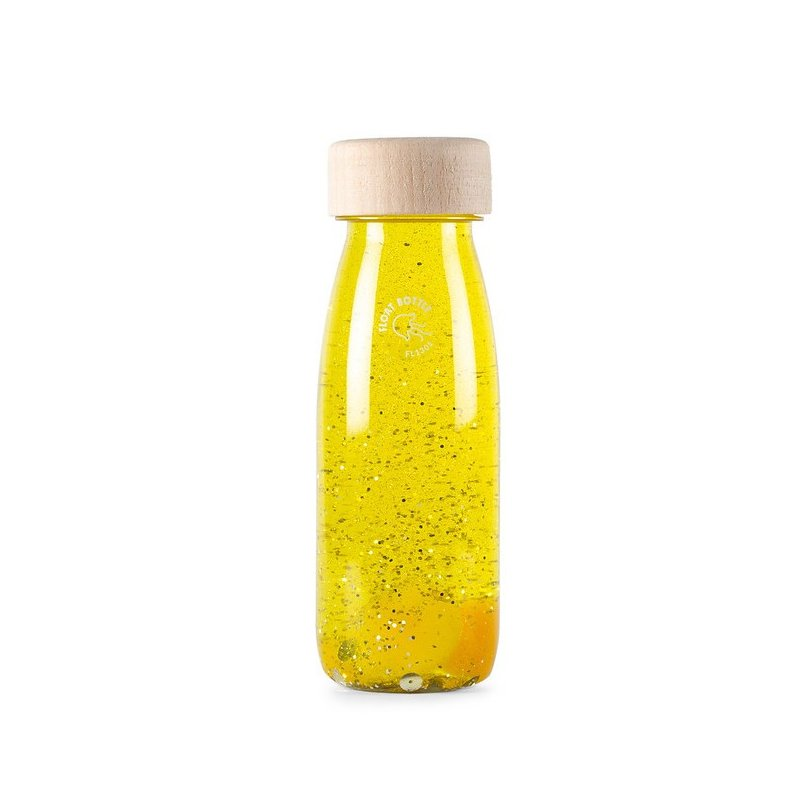 Float Bottle Yellow botella sensorial de Petit Boum