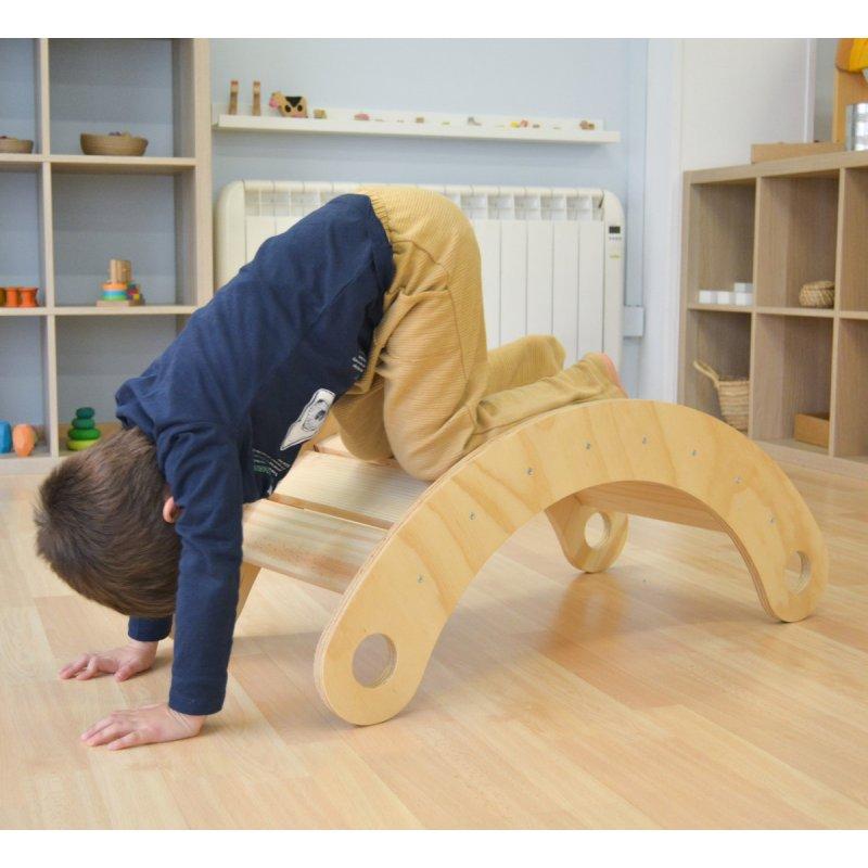 balancí natural pont de fusta