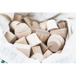 Piezas de madera para mini-mundos y mandalas
