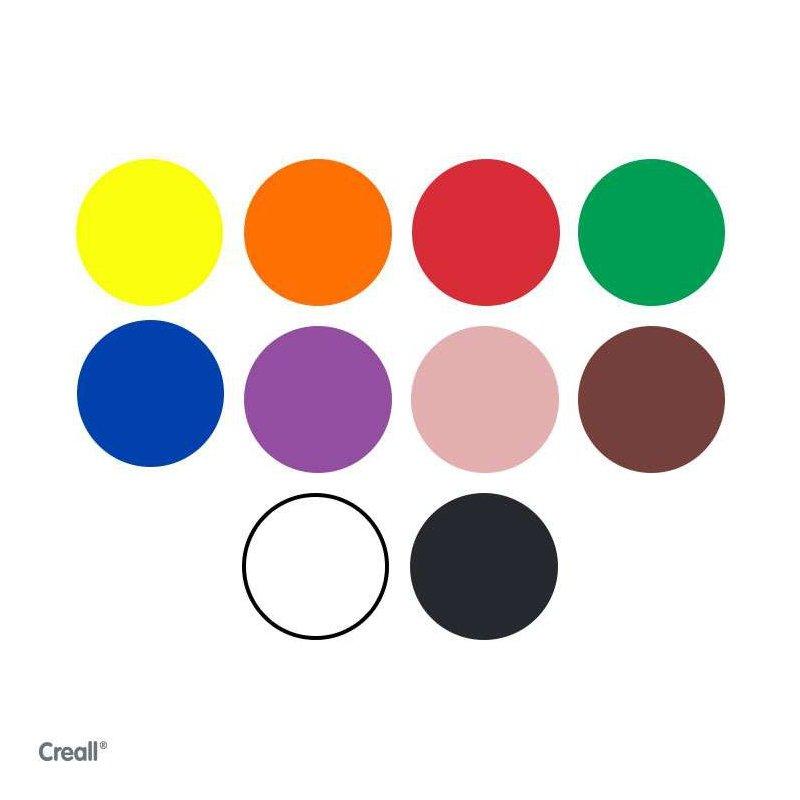 Colores de pintura de dedos Natural Creall 10 x 750