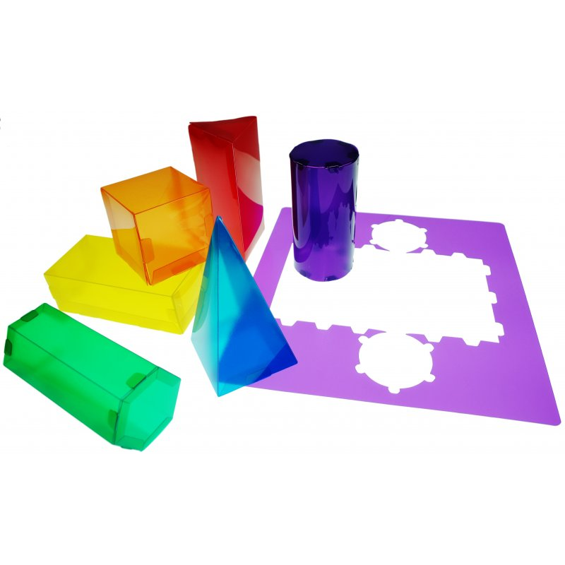 geos de colores traslucidos