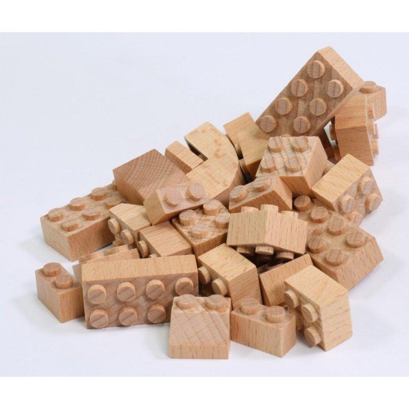 Fab Brix de 70 piezas Lego de madera