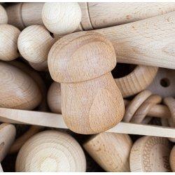 Bolet de fusta per la panera dels tresors