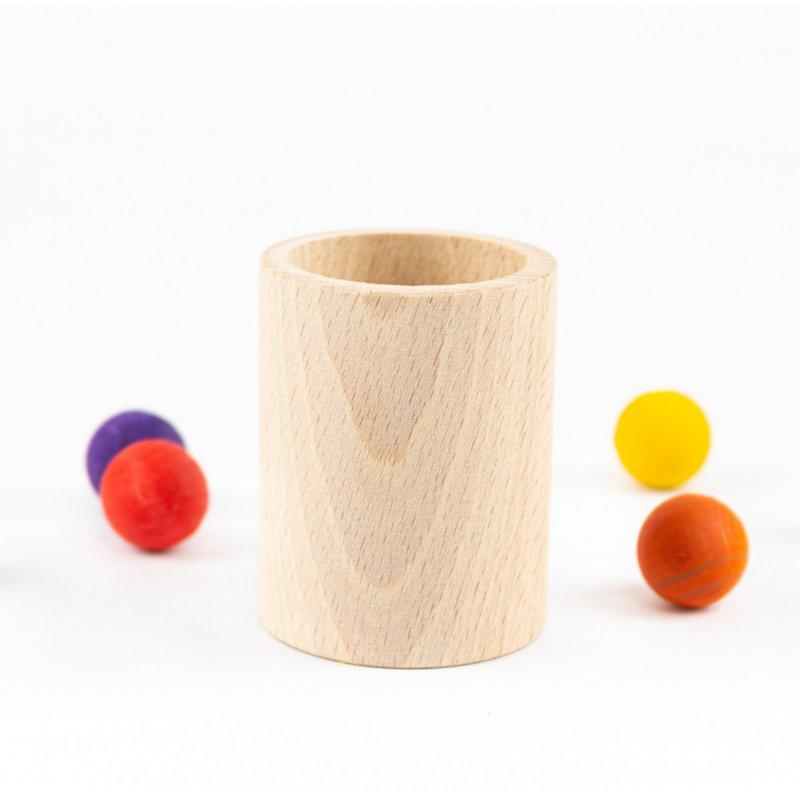 Gobelet de fusta per la cistella dels tresors
