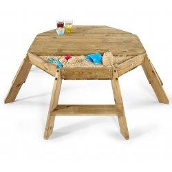 Mesa de actividades octogonal de madera de Plum