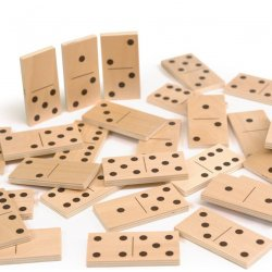 Domino clasico y puzzle animales