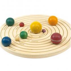 Sistema solar en 3D de madera