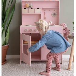Cuna infantil de fusta rosa Little Dutch
