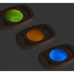 3 panells de colors fosforescents