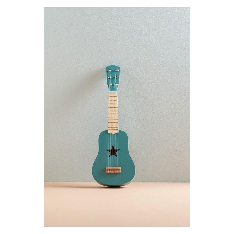 Guitarra verde con estrella de Kids concept