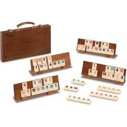 Rummikub de madera en maletín