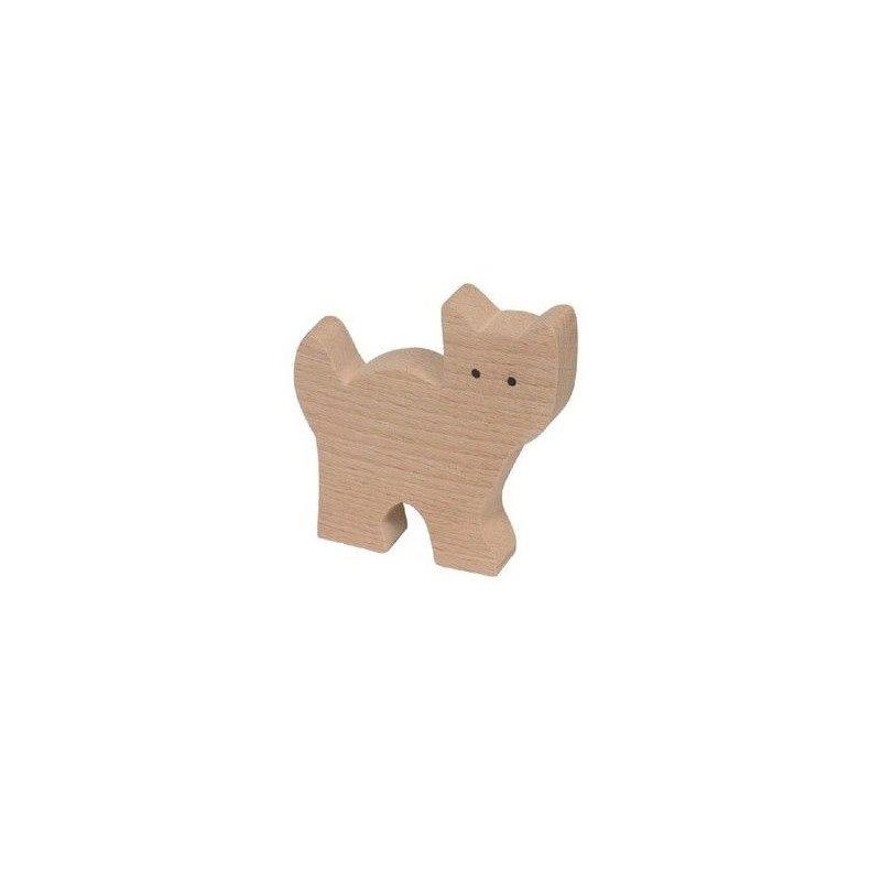 Figurita de madera de gato para pintar