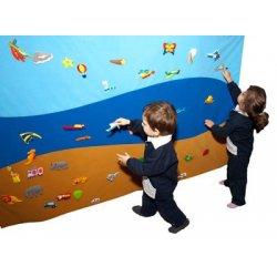 Decoración de pared para guarderías y colegios para colocar figuras de velcro