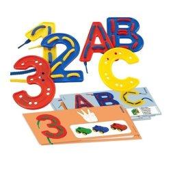 Lletres i números per cosir per a nens