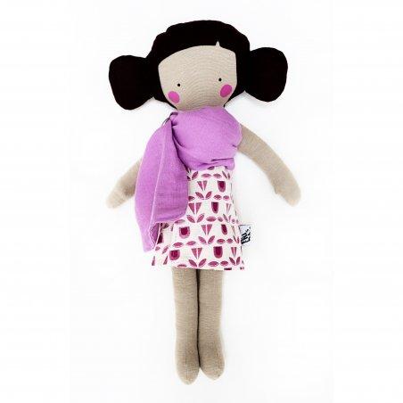 Muñeca embarazada lila